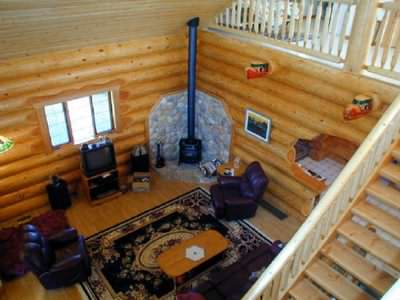 North American log cabin designs are often open plan