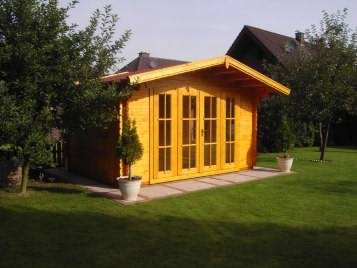 A cheap log cabin in the garden