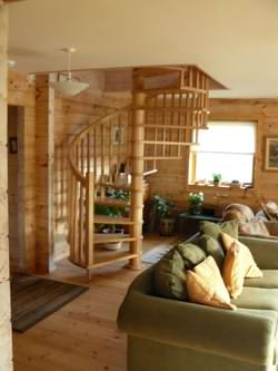 Plasterboard log cabin ceilings can also work well