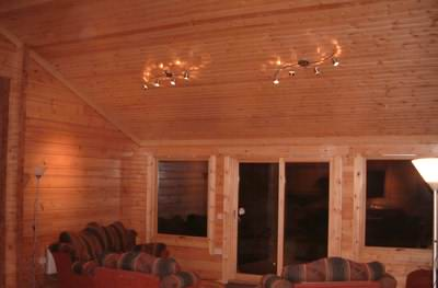 Timber log cabin ceilings look great
