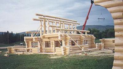 Building a log cabin in Canada