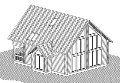 Log cabin designs - a CAD drawing