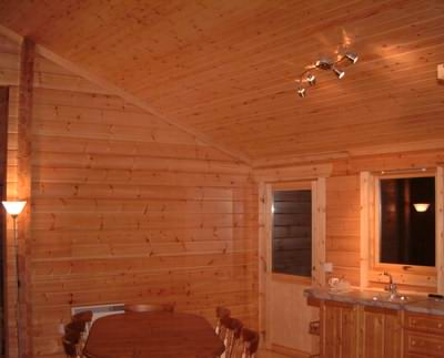 Log cabin fire treatment in the UK would mean all internal wall and ceilings being treated!