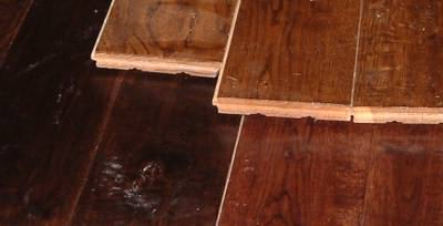 Solid wood is popular for log cabin flooring