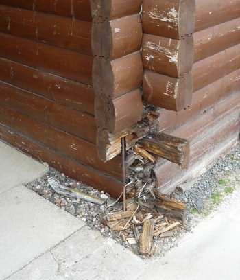 Log cabin foundation accuracy why you must get this right for Foundation options for cabins