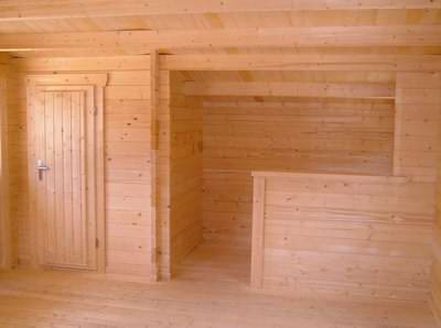 A lovely timber interior is part of the appeal for a log cabin games room