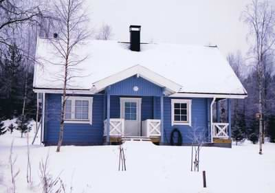 Log cabin home in Scandinavia