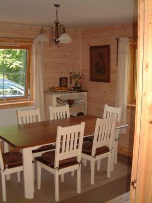 Timber And Plasterboard Can Work Well As Log Cabin Interior Finishes