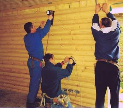 Your log cabin interior costs will be affected by the installation process