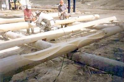 Manufacturers of log cabins - custom design.