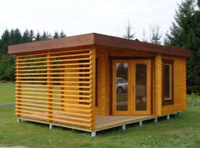 Log cabin office do you want to work from home How to make a small house work