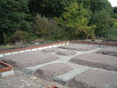 Perimiter type of log cabin foundations