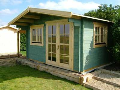 A log cabin summerhouse - a great place to spend time