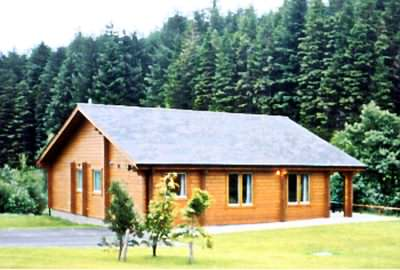 What is more natural, log holiday cabins by a forest!