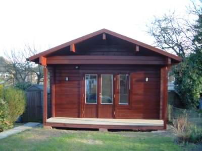 Log office style garden cabins are in demand