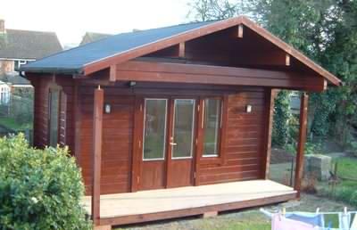 A nice small log office design