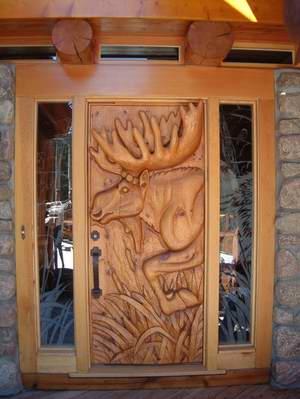 A beautiful hand carved external timber door