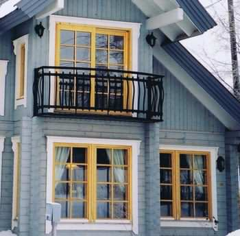 Timber windows look great in a log cabin