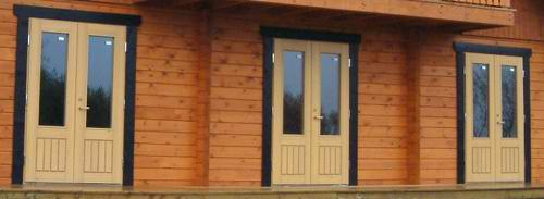 Window and door quality can really make a difference to your log cabin
