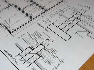 Log cabin building regs drawing