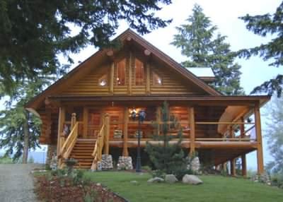 A nice example of custom log cabins Canada