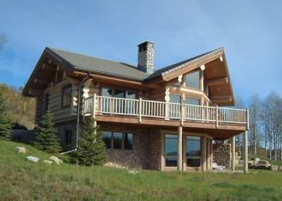 A log cabin home in North America